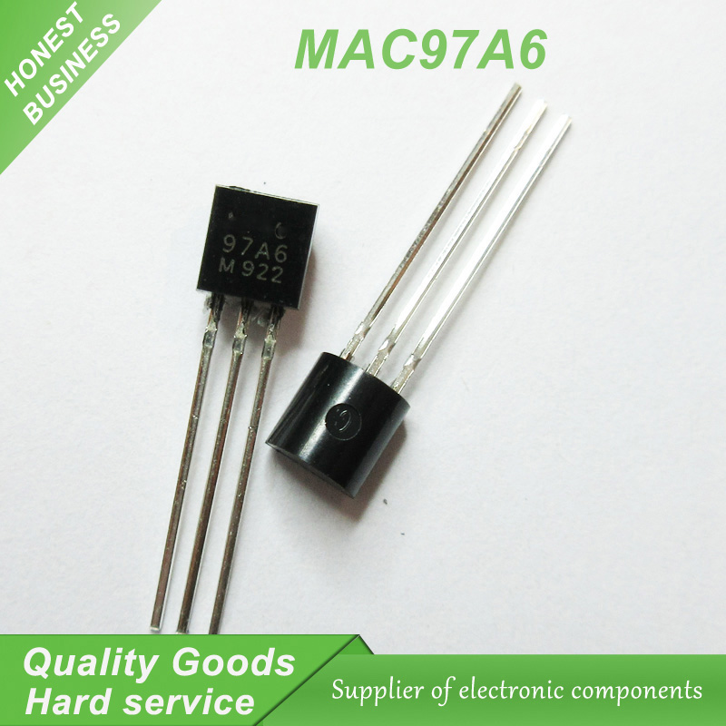 50pcs MAC97A6 97A6 TO-92 Triacs THY .6A 400V TRIAC New Original