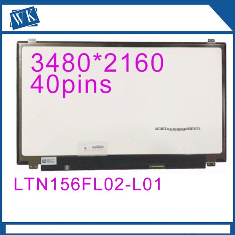 Original 3840x 2160  LCD Display Touch Screen  LTN156FL02-L01   LTN156FL02 L01Original 3840x 2160  LCD Display Touch Screen  LTN156FL02-L01   LTN156FL02 L01
