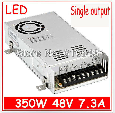 S-350-48V 7.3A Single Output Switching power supply for LED SMPS AC to DCS-350-48V 7.3A Single Output Switching power supply for LED SMPS AC to DC