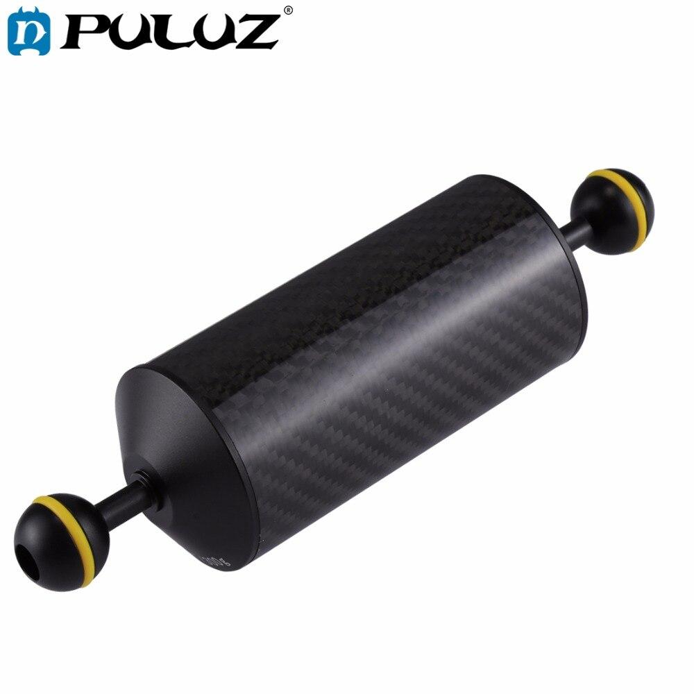 PULUZ fibra de carbono flotador brazo acuático doble bola flotante CÁMARA DE BUCEO submarina bandeja de buceo