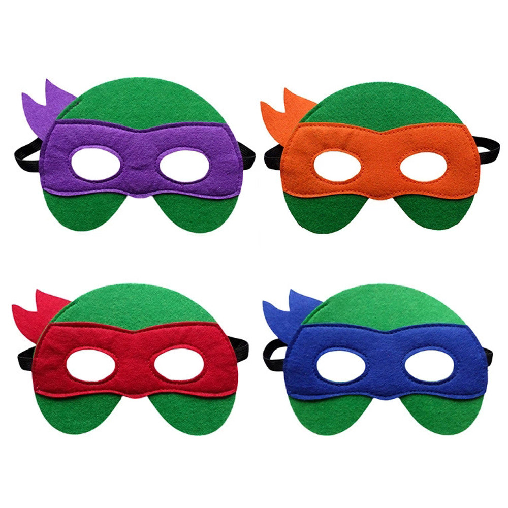 Ninja Turtles Mask Captain America Teenage Mutant Ninja Turtles  Avengers Kid Birthday Children's Day Gift Cosplay Party Masks