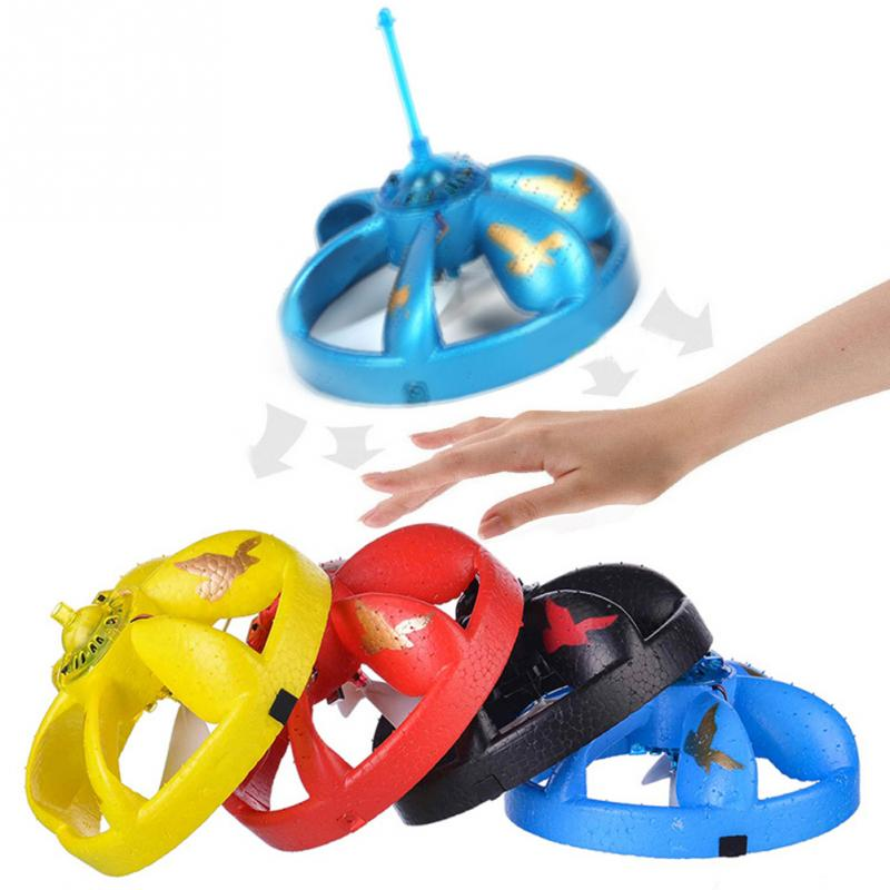 Hand Induced Hovering Floating Flight Novelty Infrared Sensor Flying Saucer UFO  Hand Movements Kids Toys With LED Flash