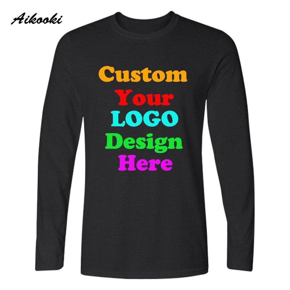 Özel Uzun t-shirt Logo Metin Fotoğraf Baskı Erkekler Kadınlar çocuk Kişiselleştirilmiş Takım Aile Özelleştirilmiş T-shirt Promosyon REKLAM Giyim Top Tee
