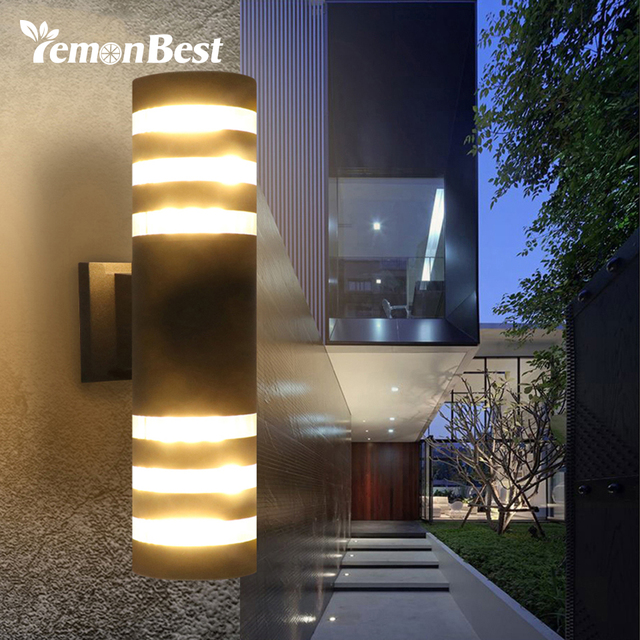 Outdoor Wall Lighting Fixtures Lemonbest modern waterproof up down aluminum cuboid led wall light lemonbest modern waterproof up down aluminum cuboid led wall light fixtures dual head wall lamp outdoor workwithnaturefo