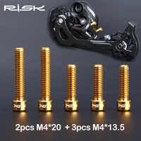 RISIKO M4 * 13,5/M4x20mm Titan Legierung Bike Vorne/Schaltwerk Schrauben für MTB Fahrrad SHIMANO XT SRAM Shift Einstellung Schraube