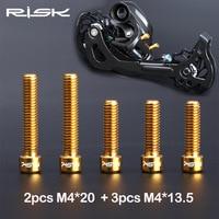 Risico M4 * 13.5 / M4x20 Mm Titanium Legering Fiets Voor/Achter Derailleur Bouten Voor Mtb Fiets Shimano Xt sram Shift Aanpassing Schroef