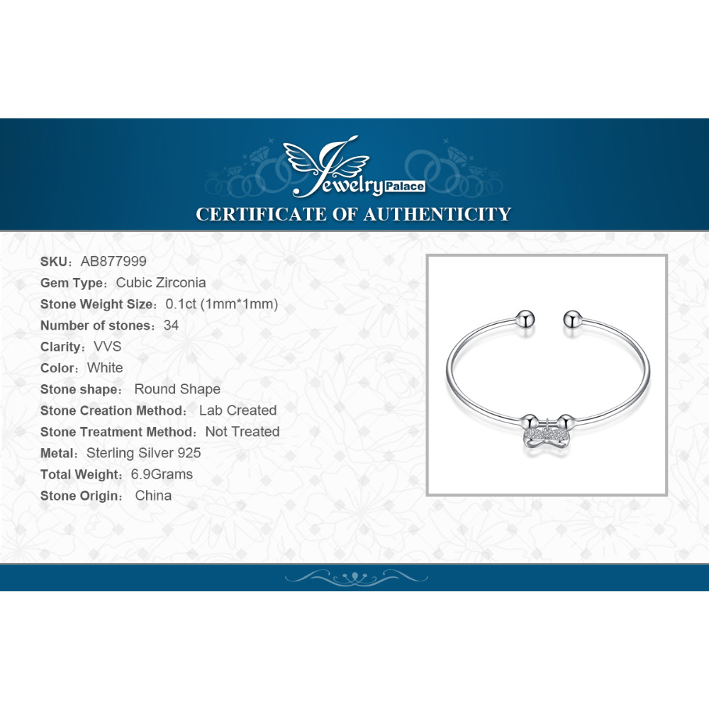 JPalace Crown Bowknot Charm bracelet 925 Sterling Silver Bangle Bracelet Bracelets For Women Silver 925 Jewelry Making Organizer in Bracelets Bangles from Jewelry Accessories