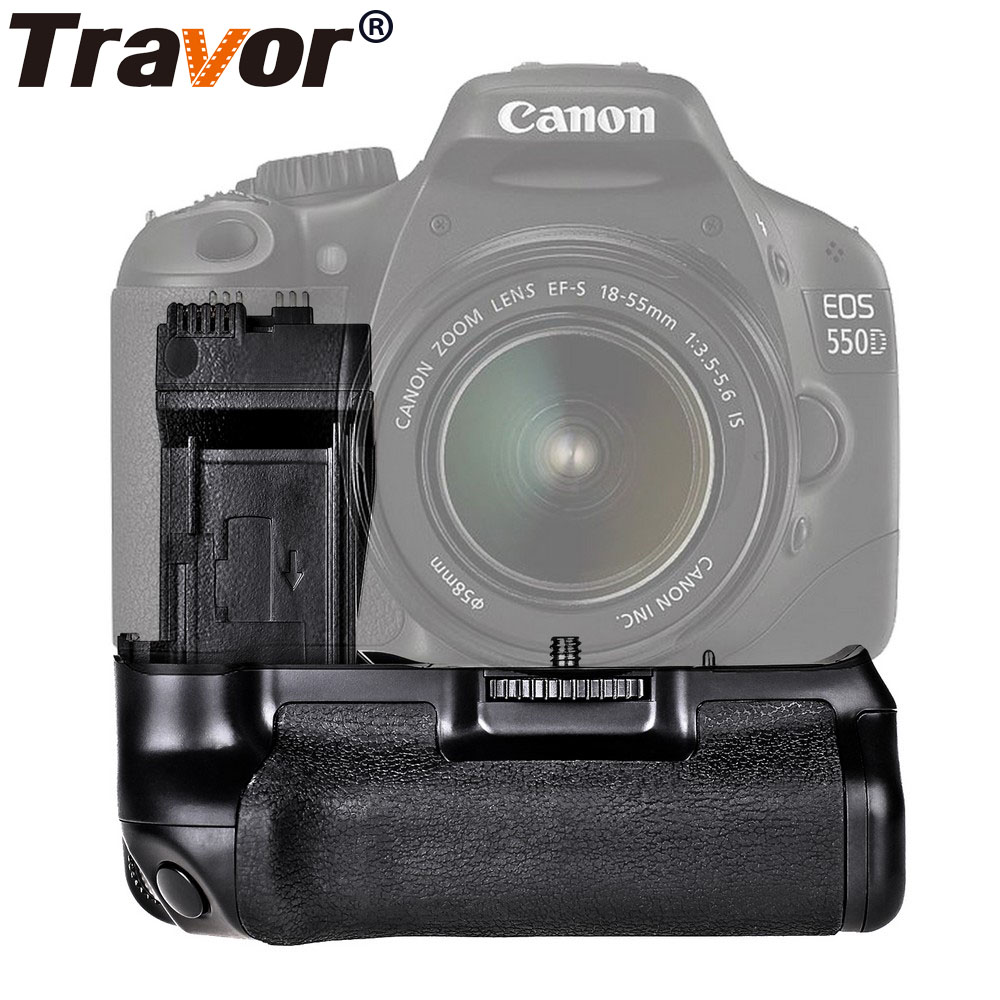 Travor Battery Grip Holder for Canon 550D 600D 650D 700D Rebel T2i T3i T4i T5i work with LP-E8 battery replacement BG-E8 neewer bg e8 replacement battery grip for canon eos 550d 600d 650d 700d rebel t2i t3i t4i t5i slr cameras