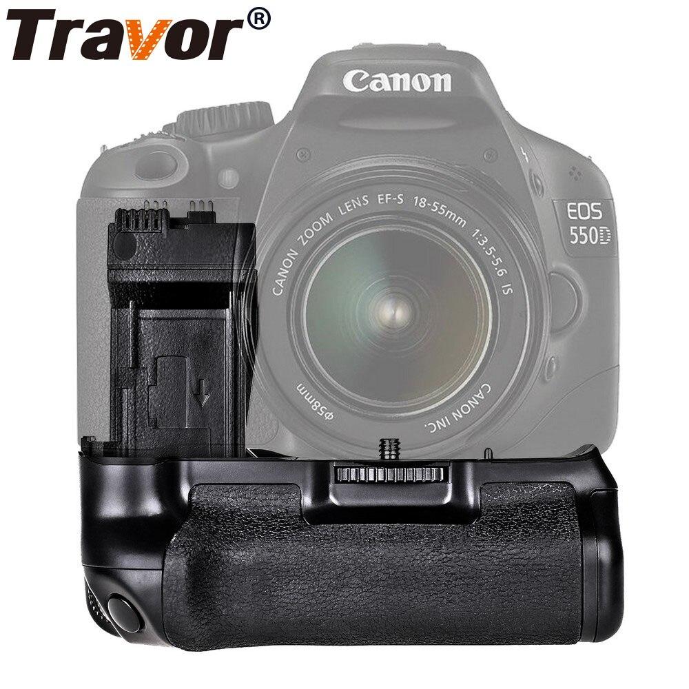 Travor batería Holder Grip para Canon 550D 600D 650D 700D rebelde T2i T3i T4i T5i trabajar con LP-E8 de reemplazo de la batería BG-E8