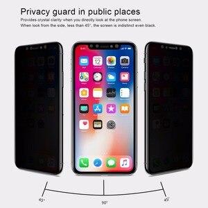 Image 4 - Nillkin Anti casus temperli cam iPhone 11 Xr cam ekran koruyucu Anti parlama gizlilik cam iPhone 11 Pro max X Xs Max