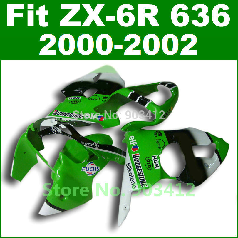 Green FUCHS paint for Kawasaki ZX6R fairing kit 2000 2001 2002 00 01 02 Ninja ZX 6R 636 Fairings body kits ZX636 G5M2 лампочка экономка свеча на ветру 5w e27 230v 6500k eco led5wcwe2765