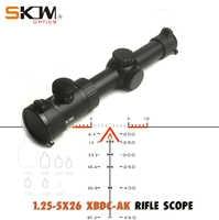 SKWoptics 1.25-5x26A Tactical riflescopes Hunting for AK AR, M4 Kalashnikov sight compact rifle scope BDC reticle