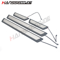 4XDoor Plate Threshold Pedal Welcome Panel Stainless Steel with LED Car Styling FOR CHR FIT For Voor C HR 2016 2017 2018