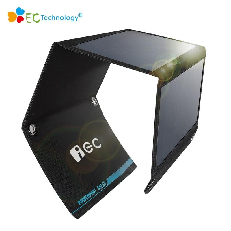 imágenes para Plegable Panel Cargador Solar con la energía Solar Al Aire Libre Solar Panel Cargador de Batería Externa Power Bank Cargador de Batería paquete