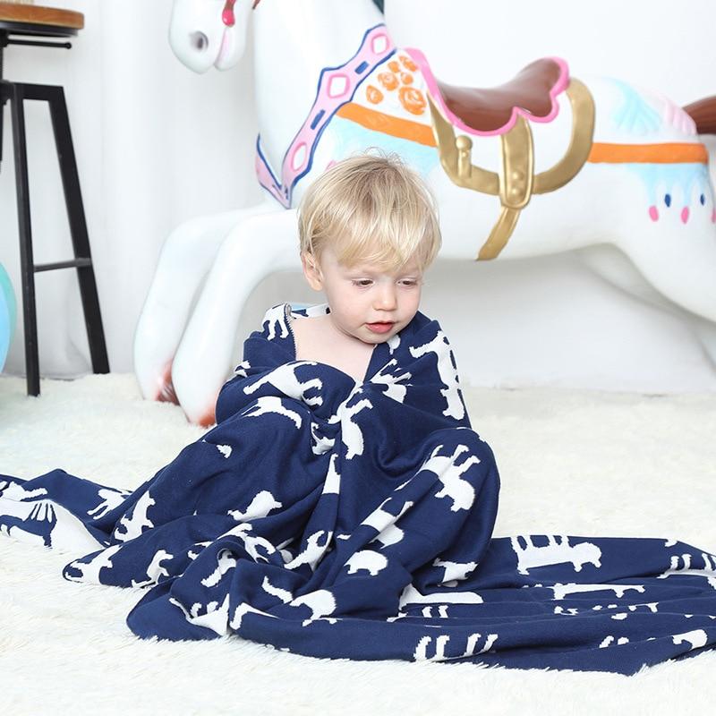 Fashion Baby Blanket Newborn Cute Blanket Soft Warm 100 Cotton Knitted Swaddling Kids Bath Towel Baby Toddler Bedding Blankets in Blanket Swaddling from Mother Kids