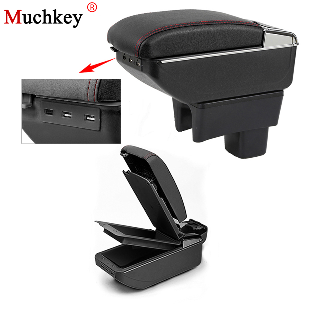 For SUZUKI SX4 2006 To 2016 Usb Armrest Box Car Center Storage Box With Cup Holder Ashtray Stowing Tidying Arm Rest Rotatable|Armrests| |  - title=