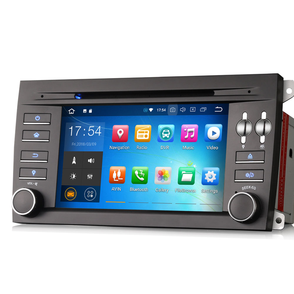"""Excellent 7"""" 4GB RAM 32GB ROM Android 9.0 Pie OS Car DVD Multimedia GPS Radio for Porsche Cayenne 2003-2010 with Split Screen Support 0"""