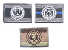 Embroidered Patches United States State Flag Patch Tactical 3D National Flags missouri state flag patch Armband Badge embroidered patches united states new york state flag patch tactical 3d national flags army armband badge