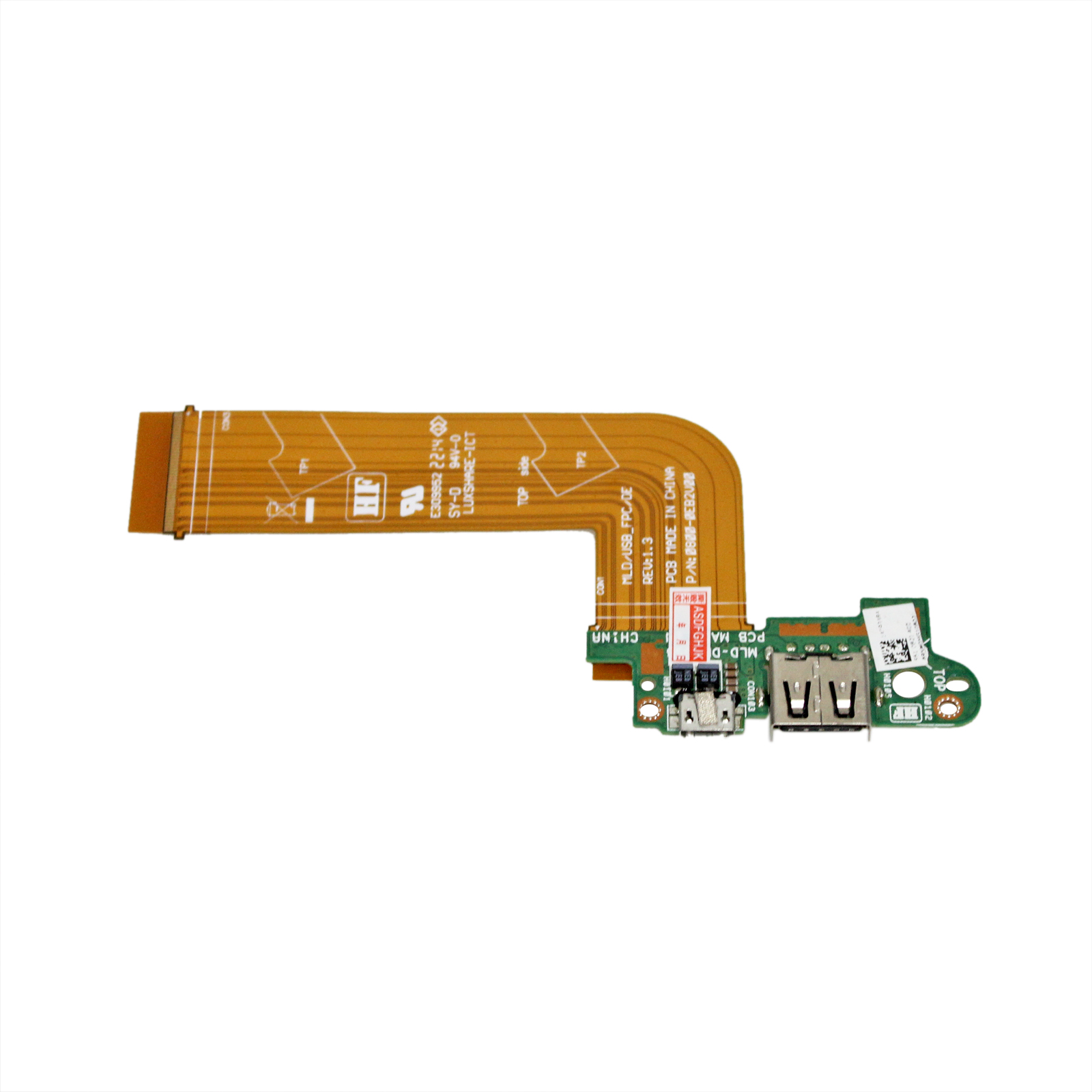 MLD-DB-USB Charge Port PCB Board FOR DELL VENUE 11 PRO T06G 5130 Tablet