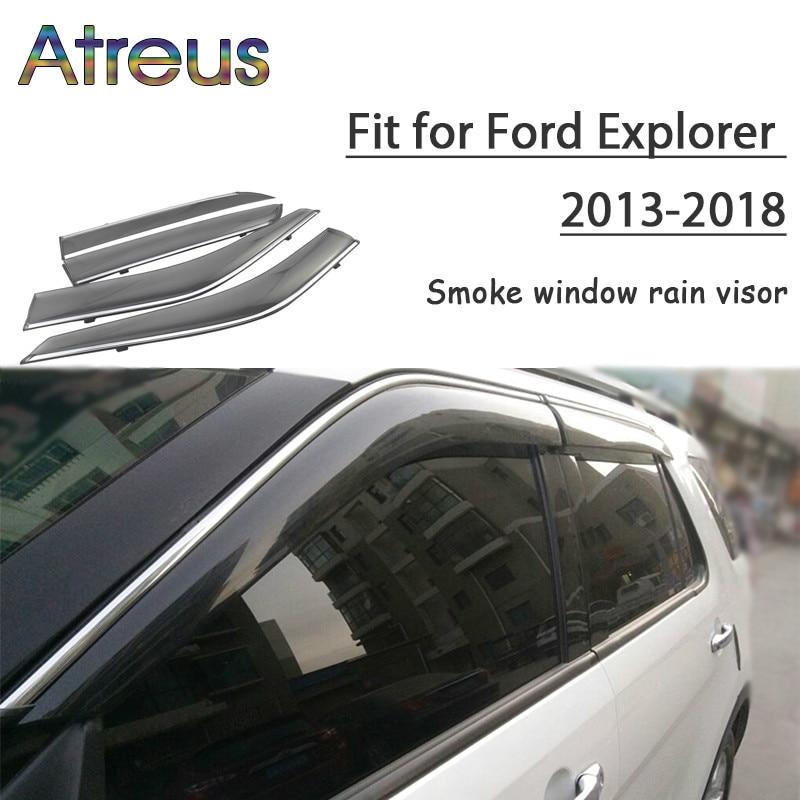 4-Piece Set for 2011-2018 Ford Explorer Auto Ventshade 894052 Low Profile Dark Smoke Ventvisor Side Window Deflector
