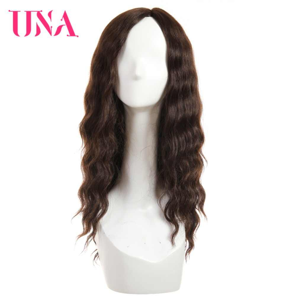 UNA Human Hair Wigs For Women Long Deep Wave T Part Lace Hair Wigs 120% Density Human Hair Wigs Non-Remy Malaysian Hair Wigs 18""