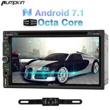 Kürbis 2 Din Android 7.1 Univeral Auto DVD-Player 6,95 Zoll GPS Navigation DAB + Autoradio FM Rds Karten Wifi Radio 3G Headunit