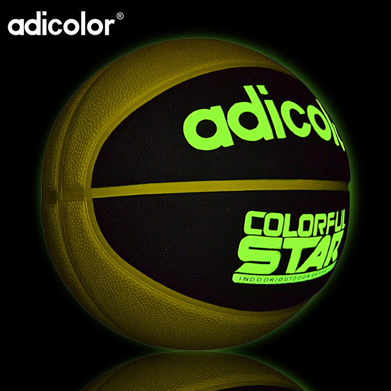 7# Luminous Street Rubber Basketball Ball Night Game Train PU Rubber Luminescence Light Children Trainning
