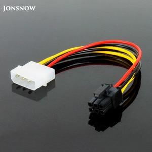 Image 1 - JONSNOW 6 פין זכר 4 פינים Molex נקבה PCI Express גרפיקה כרטיס כוח מתאם כבל הארכת כבל מחבר כוח