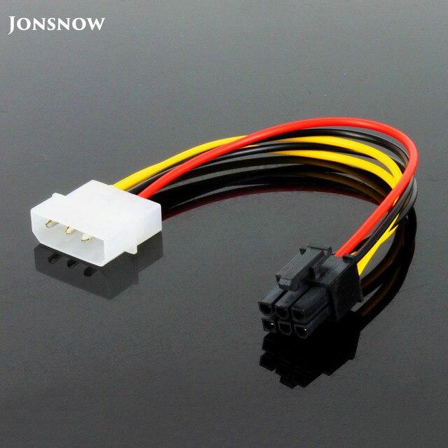 JONSNOW 6 פין זכר 4 פינים Molex נקבה PCI Express גרפיקה כרטיס כוח מתאם כבל הארכת כבל מחבר כוח