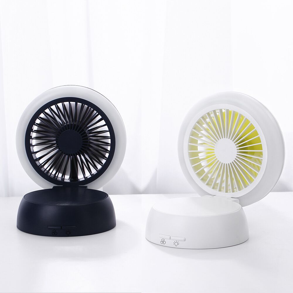 Fans Thankshare Usb Chargeable Fan Portable Operated Desk Student Fan 180 Degree Rotation Mini Desk Led Light 2000ma Mushroom Fan Small Air Conditioning Appliances