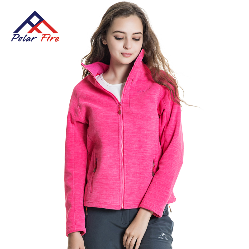 Polar Fire outdoors Fleece women polar fleece half cardigan hedging thick warm
