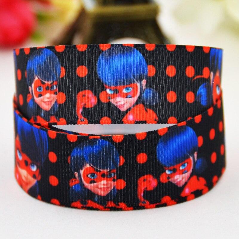 7/8 »(22 мм) lady Bug с героями мультфильмов Grosgrain ленты вечерние украшения, атласные ленты x-01428 OEM 10 метров