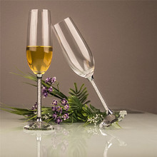 2018 New Design Top Quality Crystal Glass Champagne Cup  180ml Exquisite Gift Red Wine Glasses private Customized LOGO F2