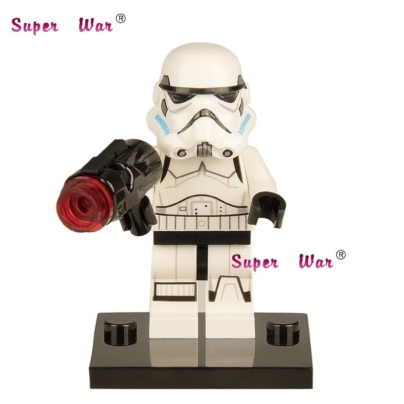 все цены на Single Sale star wars superhero Force Awakens Stormtrooper building blocks action  sets model bricks toys for children