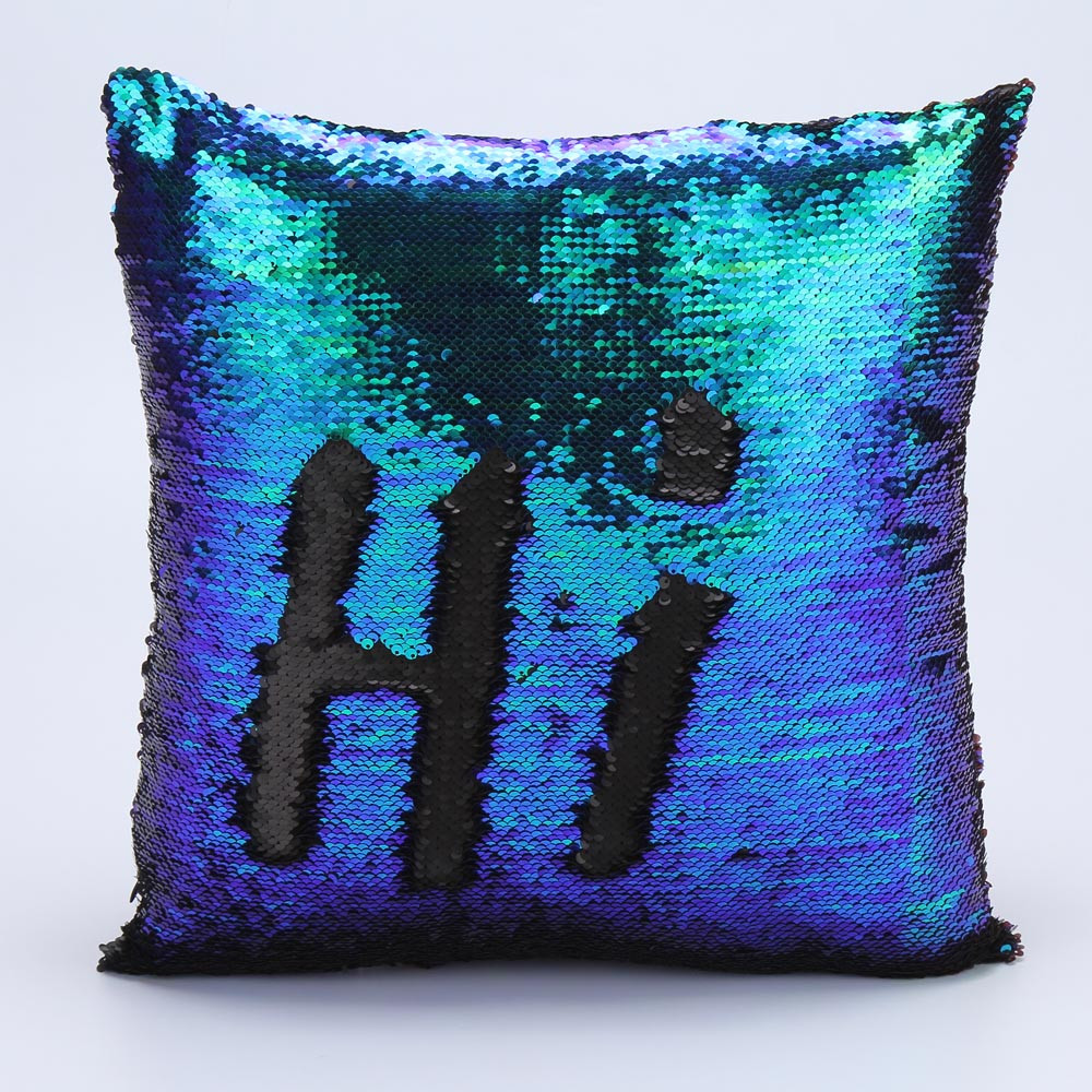 Decorative Pillow Cover Diy : Fashion DIY Two Tone Glitter Sequins Hi Throw Pillow Decorative Cushion Covers Case Car Coussin ...