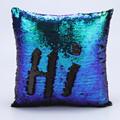 Fashion DIY Two Tone Glitter Sequins Hi Throw Pillow Decorative Cushion Covers Case Car Coussin Decor Almofadas travesseiro