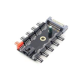 Image 2 - הגעה חדשה מחשב מחשב 1 כדי 10 רב דרך PWM Cooler קירור מאוורר רכזת 4/3Pin SATA/4Pin שקע