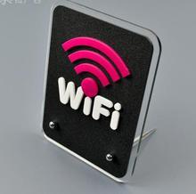 15x11.5cm  WIFI Wireless network acrylic sign Identification cards stand