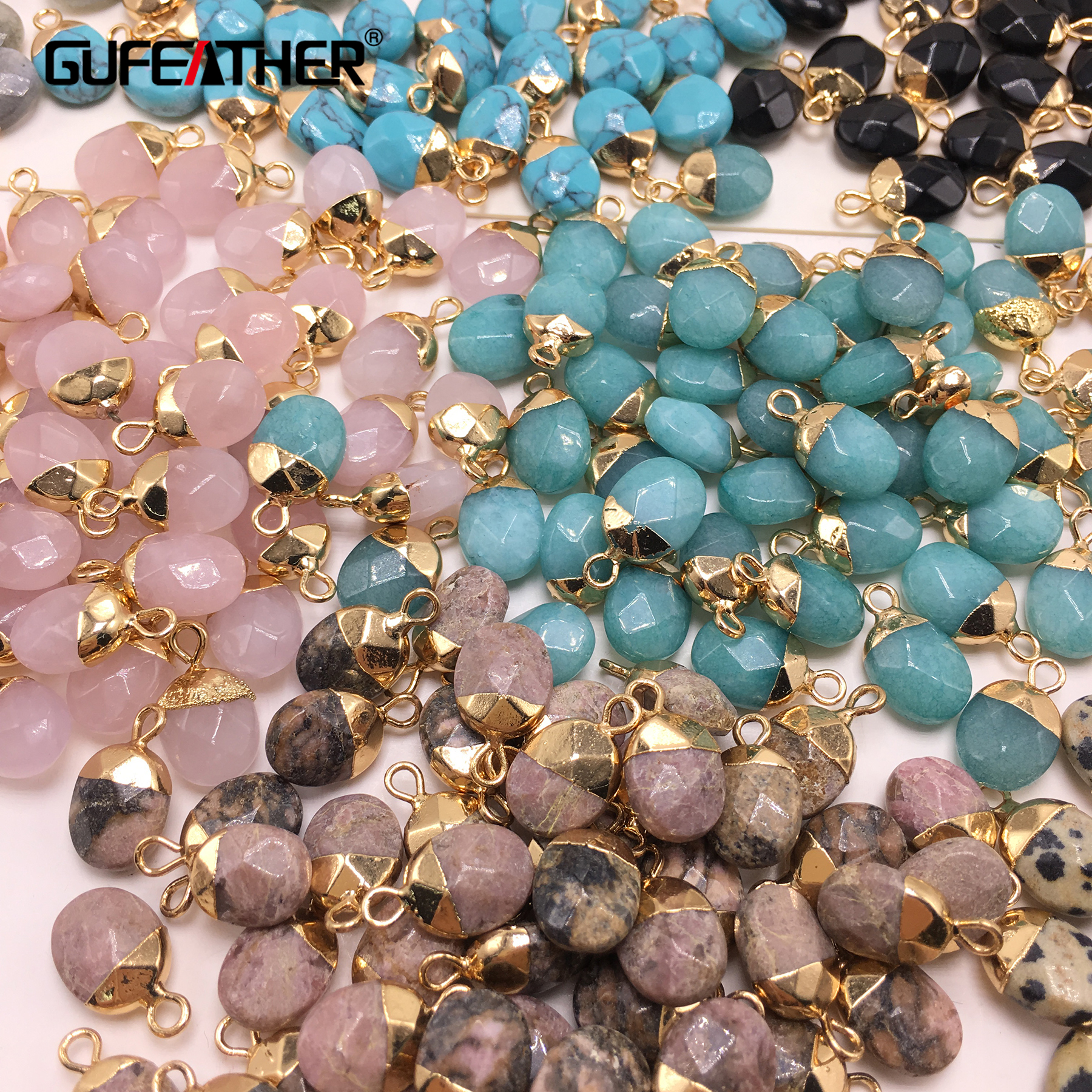 GUFEATHER M296,jewelry Accessories,jewelry Findings,accessory Parts,natural Stone,diy Pendant,hand Made,charms,jewelry Making