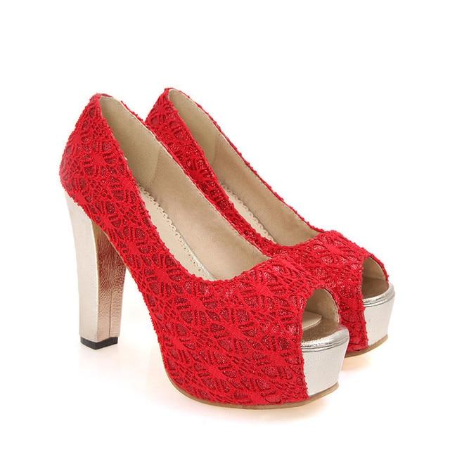 S apato Femininoขนาดใหญ่รองเท้าส้นสูงรองเท้าผู้หญิงปั๊มสุภาพสตรีC Haussure F Emmeกรงเล็บZ Apatos Mujer Tacones Sapatos Femininos F12