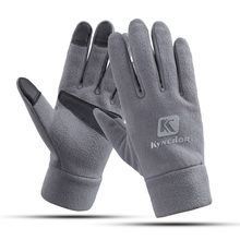 Soft Velvet Winter Cycling Glove Windproof Men Women Bicycle Bike Gloves Full Finger Touch Screen guantes ciclismo invierno(China)