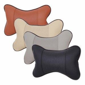 Image 2 - 1 枚のカーシートのヘッドレスト頭頸部枕快適なソフトパッド頸部サポートクッション車の首枕自動ヘッドで車の枕