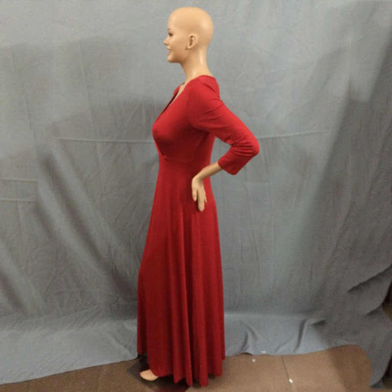 Модное женское сексуальное платье-туника с v-образным вырезом, облегающее платье, вечернее длинное платье макси с высокой талией, Vestidos, большие размеры YF46