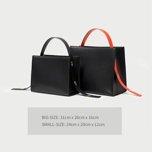 Image 5 - Maihui women leather handbags ladies Patchwork Pattern Top handle bags new fashion girls shoulder bag quality composite tote bag