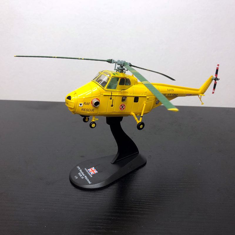 Brand New AMER 1/72 Scale 1976 Westland Whirlwind HAR.10 RESCUE Helicopter Diecast Metal Plane Model Toy For Gift/Collection