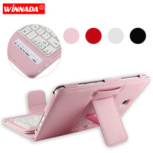 Bluetooth Keyboard for Samsung Galaxy Tab A 8.0 T350 T355 8 inch case full body Tablet cover For Samsung Galaxy Tab A T350 wireless bluetooth keyboard case cover for galaxy tab p1000