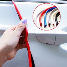 5m Door Car Anti Collision Auto Avoidance Rubber Strip Decoration Protector Stickers Accessories