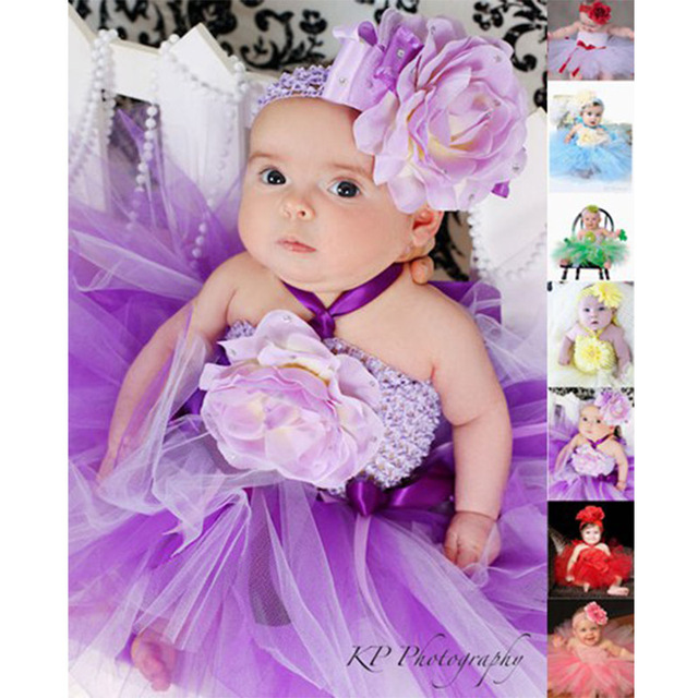 c34a9023a Baby Tutu Dress Set 4 Colors Red Pink Black Purple For Toddler Infants  Brithday Wedding Party