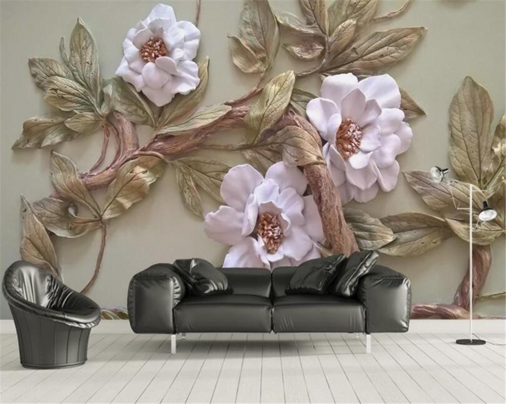 2019 Mode Beibehang Custom 3d Tapete Wandbild Relief Blume Baum Tv Sofa Hintergrund Wand Dekorative Malerei 3d Tapete Papel De Parede Billigverkauf 50%