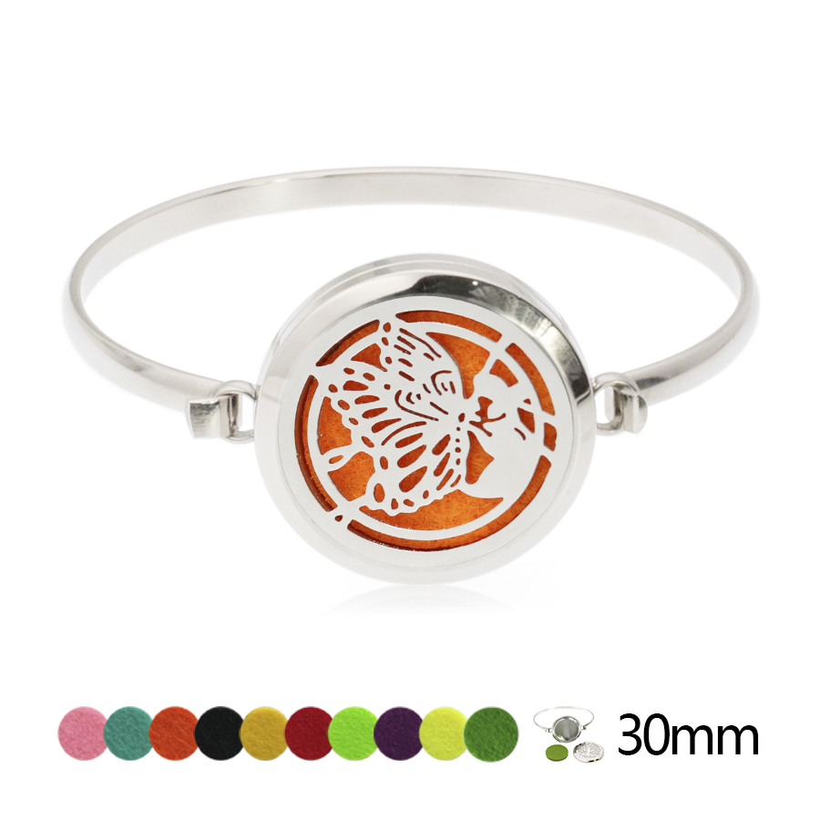 2018 30mm Screw Bangle 316L Stainless Steel Aromatherapy Oil Diffuser Perfume Locket Bracelet Bangles Free felt pads!